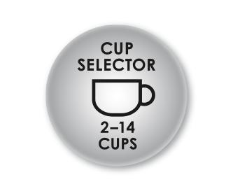 Nastavení množství kávy pro 2-14 šálků