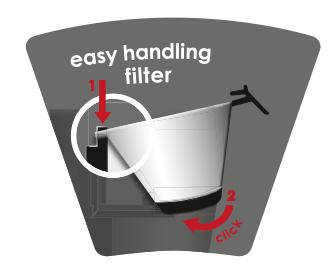 Odnímatelný a stojací otočný filtr