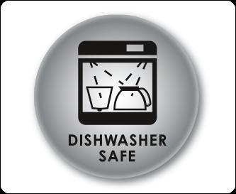 Swivel filter is dishwasher safe